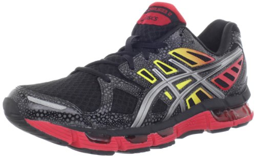Asics Gel-Cirrus33 2.0, Scarpe da corsa uomo Navy/White/Flash Yellow Black/Lightning/Fire