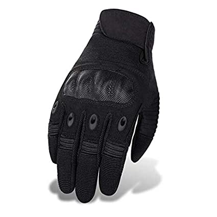 Men Hard Knuckle Full Finger Gloves Winter Tactical Army Combat Leather Mitts