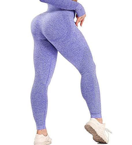 GILLYA Gym Vital Seamless Leggings for Women High Waisted Seamless Butt Leggings with Tummy Control Seamless Yoga Leggings