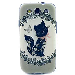 SHOUJIKE Black Butterfly TPU Soft Case for Samsung Galaxy S3 I9300