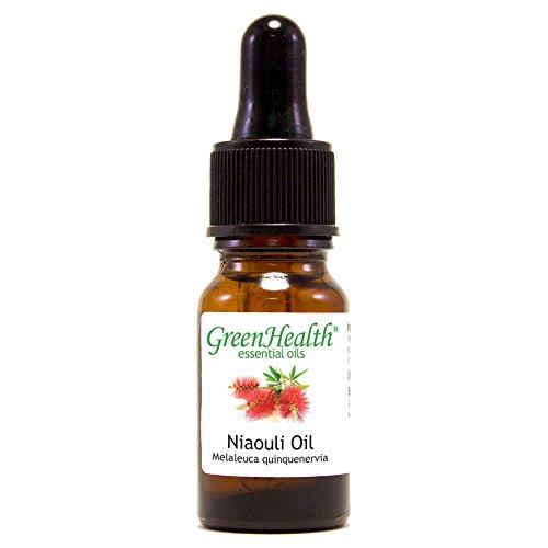 (GreenHealth Niaouli Essential Oil- 1/3 fl oz (10 ml) Glass Bottle w/Glass Dropper - 100% Pure )
