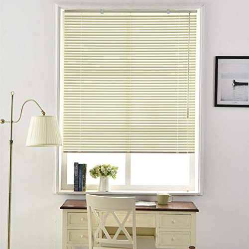 Aluminum Mini Blinds,Shading Roller Blind Horizontal Blinds for Windows Office Bedroom Kitchen Toilet Punch Free Window Blinds and Shades-A 86x162cm(34x64inch)