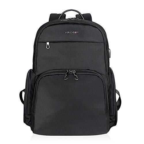 KROSER Laptop Backpack 15.6 Inch Travel Computer Backpack College School Backpack Casual Daypack Business Laptop Bag Water-Repellent with USB Charging Port for Women Men-Black