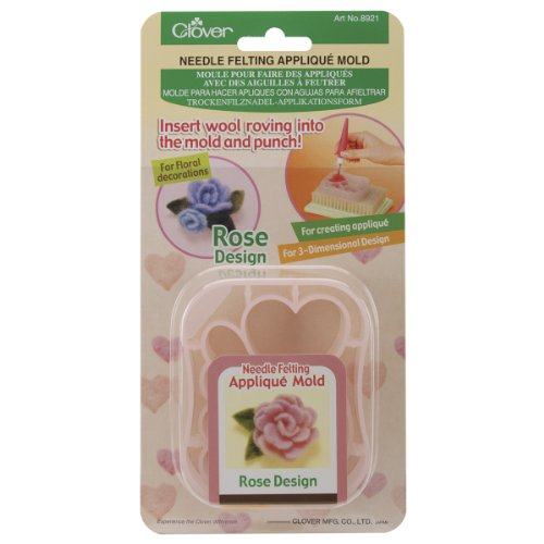 Clover Applique Mold, Rose Design