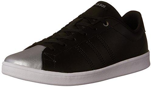buy popular b159b c13f3 adidas Womens Advantage Clean QT Sneakers, Core BlackCore BlackSilver  Metallic,