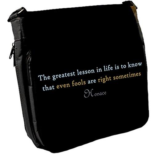 The greatest lesson - Horace Unisex Umhängetasche