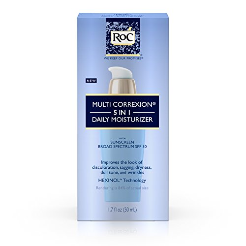 RoC Multi Correxion 5 In 1 Anti-Aging Daily Face Moisturizer with Broad Spectrum SPF 30, anti-wrinkle Cream for Skin Discoloration, Elasticity, and Firmness, 1.7 fl. oz