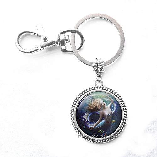 Mermaid Keychain,Mermaid Jewelry,Mermaid Key Ring,Mermaid Art Charm Keychain,Mermaid by ()