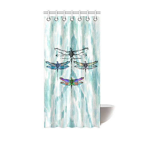 WECE Designs Hot Selling Dragonfly Shower Curtain 100% Po...