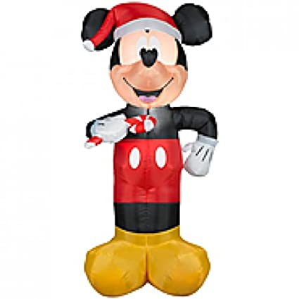 christmas 3 12ft disneys mickey mouse airblown inflatable outdoor holiday prop decoration - Mickey Mouse Outdoor Christmas Decorations
