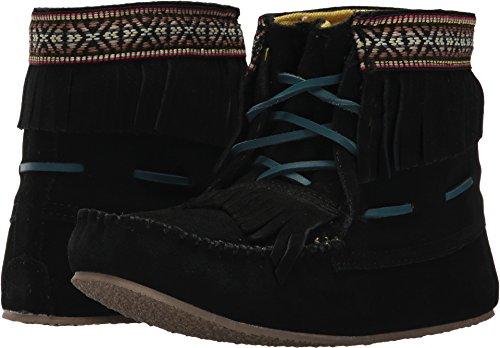 Lugz Women's Kaya Moccasin Boots Black/Turquoise 7 M ()