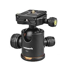 Pergear® Heavy Duty Photography Camera Tripod Ball Head 360 Degree Fluid Rotation Tripod Ballhead For DSLR Camera Quick Release Plate