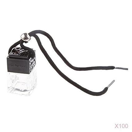 non-brand MagiDeal 100pcs Vacía Botella Cuadrada de Cristal de Perfume, Decoración del Coche