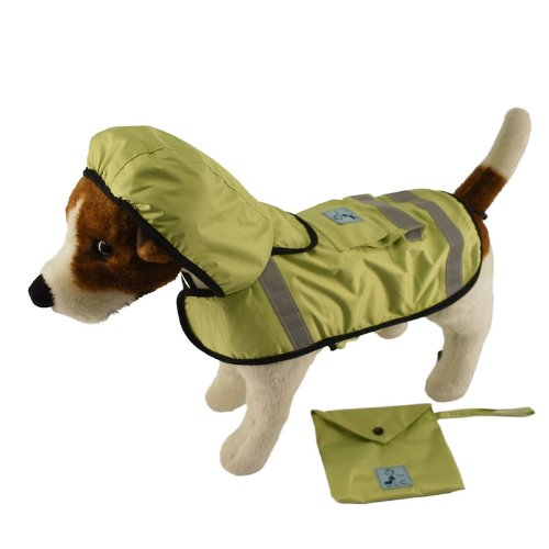 One for Pets Safety Hooded Raincoats, 20-Inch, Spring