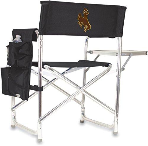 NCAA Sports Folding Chair Color: Black, NCAA Team: University Of Wyoming Cowboys ()