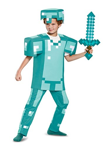 (Armor Deluxe Minecraft Costume, Blue, Medium)