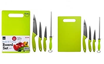 Amazon.com: Cutting Board Set Plus Kitchen Knives - Includes ...