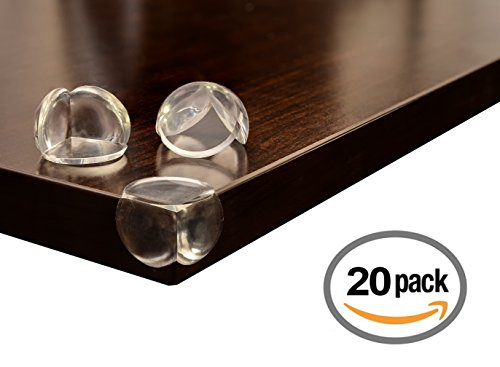 Price comparison product image Clear Corner Protectors / Baby Proofing Safety Bumpers / Protect Babies and Kids from Sharp Corners with Premium Furniture Guards (20 Pack) by Pour Bèbè