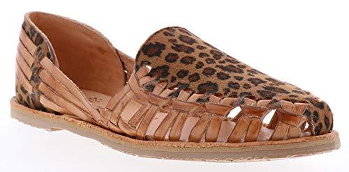 Sbicca Women's Aisling Flat Sandal, tan Leopard, 7 M US