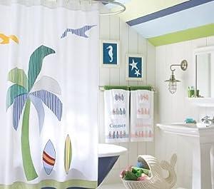 Pottery Barn Kids Malibu Shower Curtain