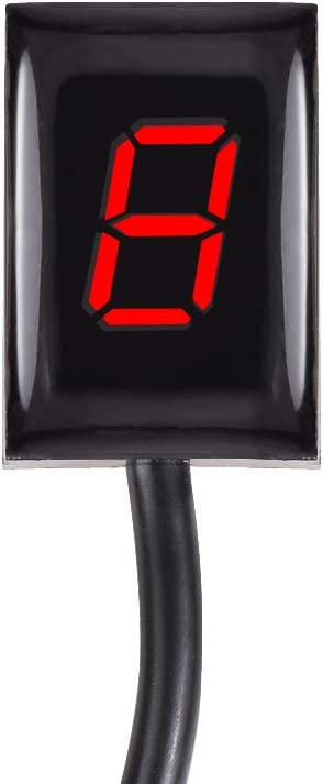 Red,With Honder For KTM EXC 250 300 400 450 500 NON FI MODEL ALL YEARS EXC250 EXC300 EXC400 EXC450 EXC500 Motorcycle Gear Indicator LED 1-6 Level Display Shift Light Bike Meter