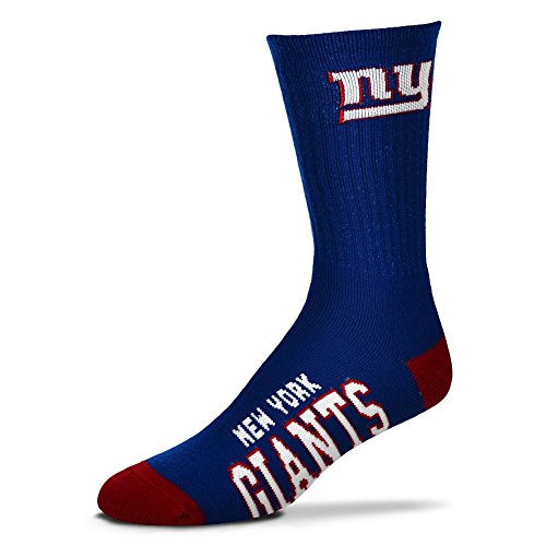 New York Giants Deuce Crew Socks Mens Size Large 10-13 - For Bare Feet