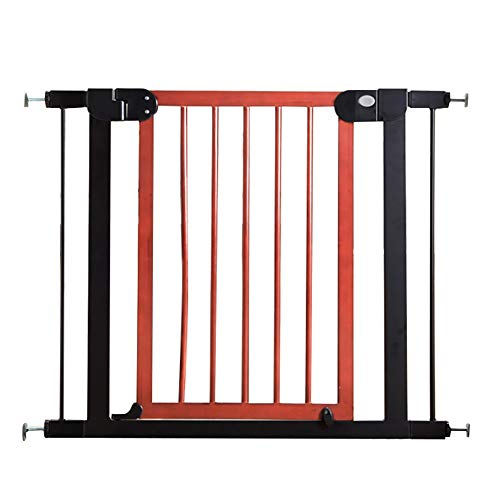106 Cherry - Safety Auto Close Span Walk Through Baby Gate, Extra Wide Walk Thru Gate with Extension, Cherry Red (Size : 104-111cm)