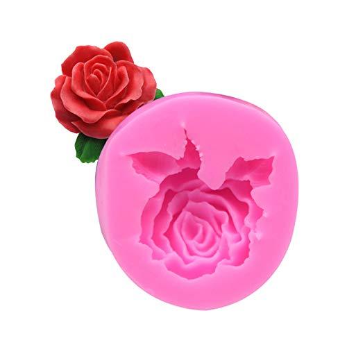 ONIKOOLA 3D Roses Flower Silicone Cake Mold Chocolate Sugarcraft Decorating Fondant Fimo Tools