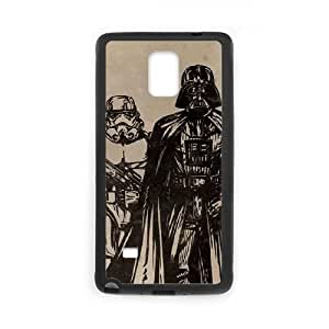 Darth Vader & Storm Troopers Samsung Galaxy Note 4 Cell Phone Case Black Delicate gift JIS_365857