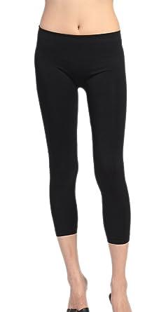Amazon.com: A.S Basic Seamless Capri Leggings Nylon Spandex Skinny ...