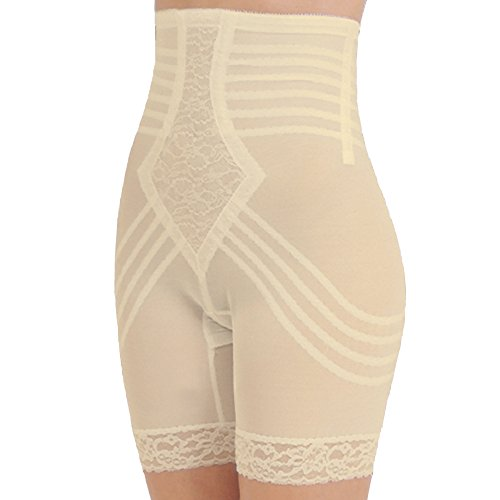 - Rago Shapewear High-Waist Long Leg Pantie Girdle Style 6209 - Beige - Large