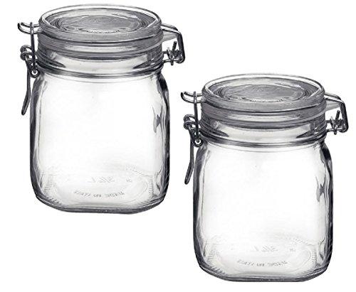 Bormioli Rocco Fido Clear Jar .75 Liter 25.25 oz (Pack of 2) by Bormioli Rocco