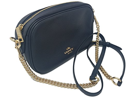 844a0249badac ... inexpensive coach womens handbag pebbled leather isla crossbody bag  with chain f25922 midnight accf6 420b8 ...