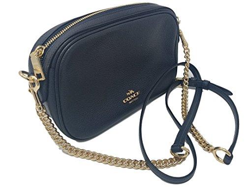 Coach Womens Handbag, Pebbled Leather, Isla Crossbody Bag with Chain, F25922 (Midnight Blue) by Coach