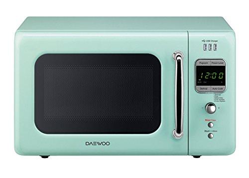 Daewoo KOR-7LRUEM Retro Countertop USB Microwave Oven 0.7 Cu