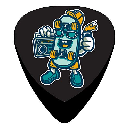 Blue Skateboard New Stylish Guitar Pick Suitable for Young People, Adults