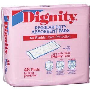 Humanicare Dignity Regular Duty Pad/Liner 4X12 - Pack of 48 - Model 26954 Dignity Regular Duty Pads