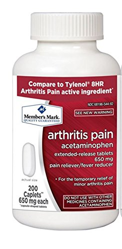 Caplets Extended Relief (Member's Mark 650mg Acetaminophen Extended Release Pain Reliever Fever Reducer Arthritis Pain Caplets (1 bottle (200 caplets)))