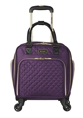 "kensie 16"" Under Plane Seat Luggage Tote, Purple with Gold Color Option from kensie"