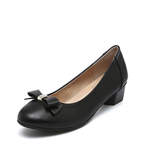 señora asakuchi zapatos puntiagudos/Zapatos elegantes de tacón grueso arco A