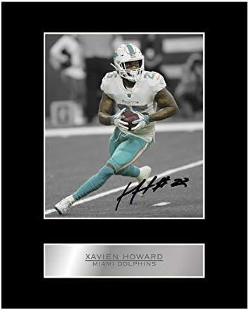 Xavien Howard gesigneerd gemonteerd foto display Miami Dolphins 01 NFL gedrukt handtekening Gift Picture Print