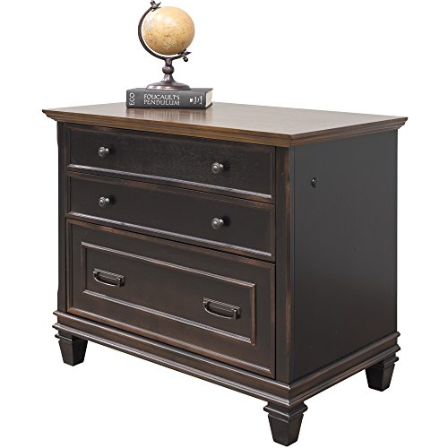 Martin Furniture Hartford Lateral File Cabinet, Brown - Fully Assembled