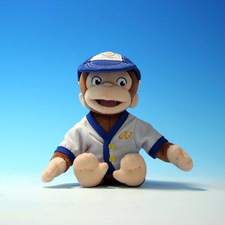 Curious George Bean Bag Pals - Little Slugger in Baseball Uniform