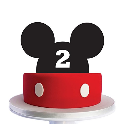 Mickey Mouse 2nd year Cake Topper by Acrylic Art Target