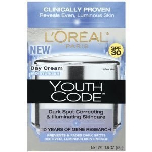 L'Oreal Paris Youth Code Dark Spot Correcting & Illuminating Skincare Day Cream Moisturizer (Pack of 2) For Sale