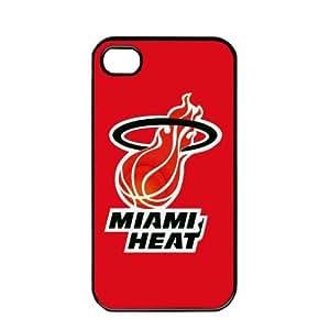 NBA Miami Heat logo Case For Ipod Touch 4 Cover PC Soft (Black)