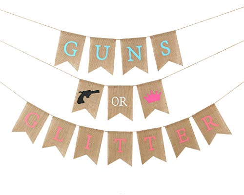 Baby Gender Reveal Party Supplies - Burlap Banner for Gender Reveal,Perfect Gender Reveal Ideas Theme, Boy or Girl Banner for Party Decorations, Unique Baby Shower Ideas (Gender Reveal)