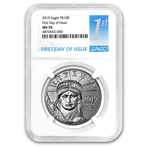 2019 1 oz Platinum American Eagle MS-70 NGC (First Day of Issue) 1 OZ MS-70 NGC ()