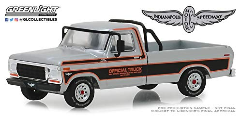 1979 Ford F-100 Pickup Truck Silver and Black 63rd Annual Indianapolis 500 Mile Race Official Truck 1/64 Diecast Model Car by Greenlight 29979 64 Scale Diecast Truck Car