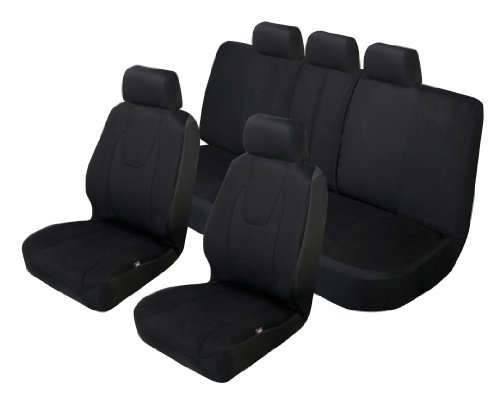 Auto Expressions 804301 Black Cambridge Seat Cover Kit - 3 Piece (2 Low Back Front and  1 Bench)